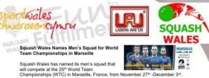 Welsh Team Revealed